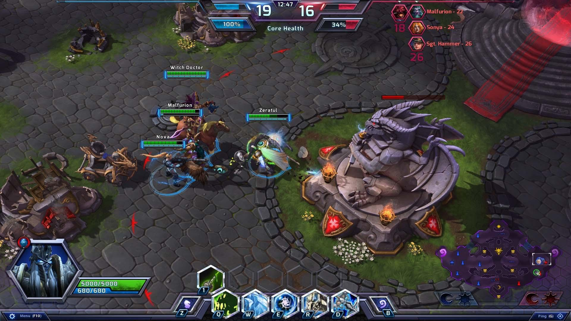 heroes of the storm скриншот